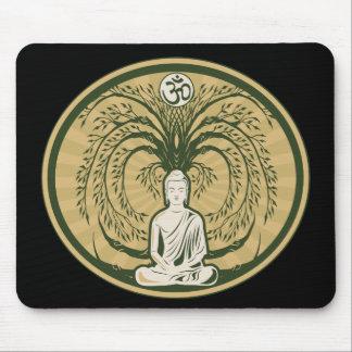 Buda debajo del árbol de Bodhi Alfombrilla De Raton