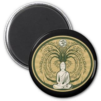 Buda debajo del árbol de Bodhi Imán Redondo 5 Cm