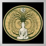 Buda debajo del árbol de Bodhi Impresiones
