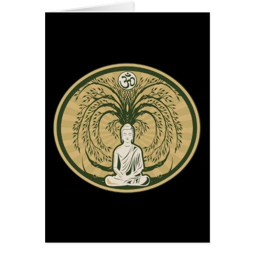 Buda debajo del árbol de Bodhi Felicitacion