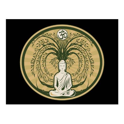 Buda debajo del árbol de Bodhi Tarjetas Postales