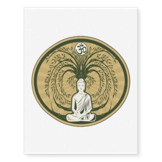 Buda debajo del árbol de Bodhi Tatuajes Temporales