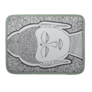 Buda dibujado mano fundas para macbook pro