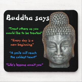 Buda dice alfombrilla de raton