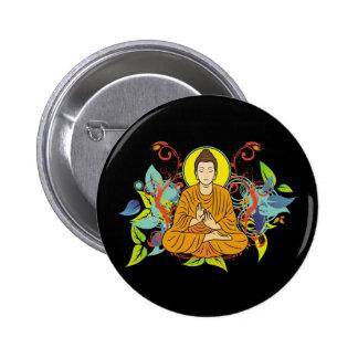 Buda dichoso pin redondo 5 cm