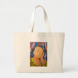Buda durmiente (retrato ingenuo del expresionismo) bolsas de mano