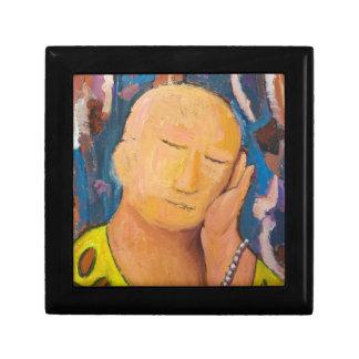 Buda durmiente (retrato ingenuo del expresionismo) caja de joyas