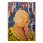 Buda durmiente (retrato ingenuo del expresionismo) tarjetas