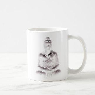 Buda en blanco taza clásica