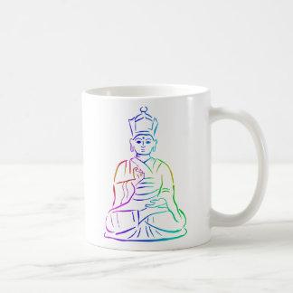 Buda en colores del arco iris tazas