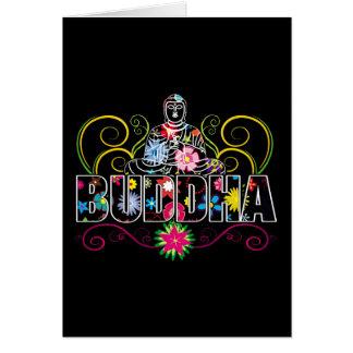 Buda en flores tarjeta de felicitación