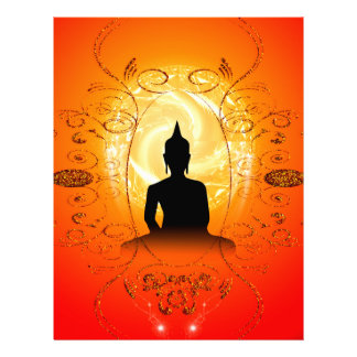 Buda en fondo mysical membrete