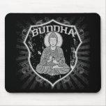 Buda en Grunge Alfombrillas De Ratones