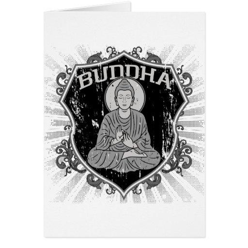 Buda en Grunge Tarjeton