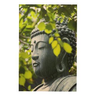 Buda en jardín del templo de Senso-ji Cuadro De Madera