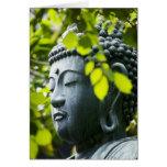 Buda en jardín del templo de Senso-ji Tarjeta De Felicitación