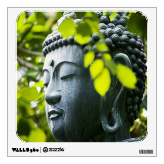 Buda en jardín del templo de Senso-ji Vinilo Decorativo