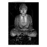 Buda en jardín felicitacion