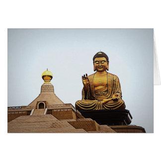 Buda en l ligero fotografía tarjeton