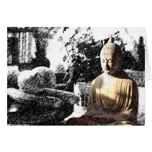 Buda en la cocina 3 tarjeta
