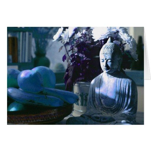 Buda en la cocina 6 tarjeta de felicitación