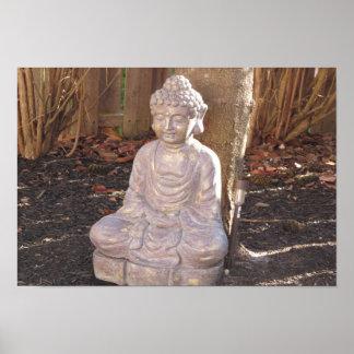 Buda en la diversión del arte de la estatua del póster