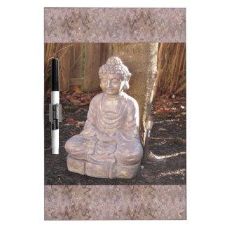 Buda en la diversión del espiritual de la religión pizarra