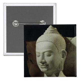 Buda en la meditación en el rey del Naga, Pin Cuadrado