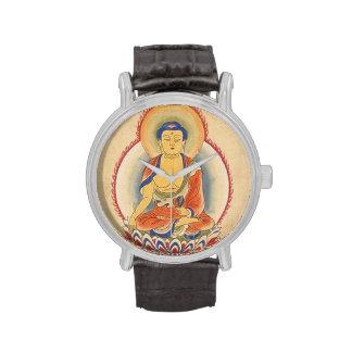 Buda en la meditación reloj de mano