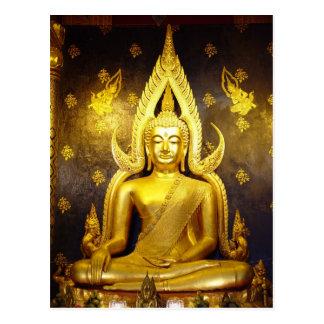 Buda en la postal de Wat Yai