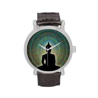 Buda en mandala reloj de mano