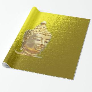 Buda en oro papel de regalo