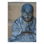 Buda en rezo felicitacion