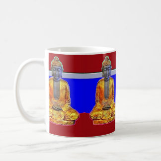 Buda en taza de café del oro por Sharles