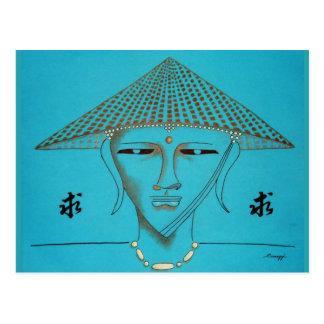 Buda estilizado Orig. Arte--Postal Postales