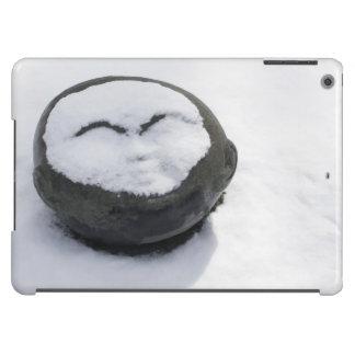 Buda feliz con el Facial de la nieve Funda Para iPad Air
