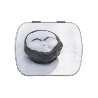 Buda feliz con el Facial de la nieve Jarrones De Caramelos