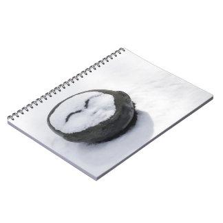 Buda feliz con el Facial de la nieve Note Book