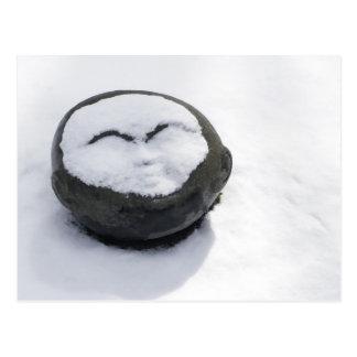 Buda feliz con el Facial de la nieve Tarjeta Postal