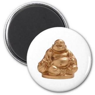 Buda feliz imán redondo 5 cm
