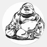 Buda feliz pegatina