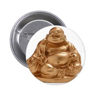Buda feliz pin redondo de 2 pulgadas