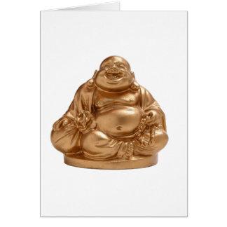 Buda feliz tarjeta de felicitación