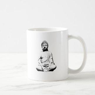 Buda figura taza básica blanca
