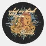Buda hace cita pegatinas