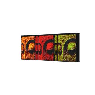 Buda hace frente a la lona de arte del tríptico impresión de lienzo