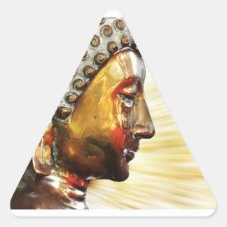 Buda hace frente a los pegatinas pegatina triangular