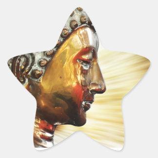 Buda hace frente a los pegatinas pegatina en forma de estrella