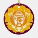 Buda hace frente al ornamento ornamento para reyes magos