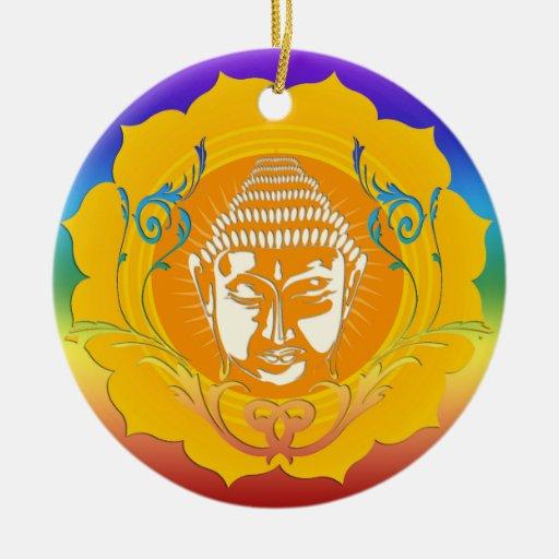 Buda hace frente al ornamento ornamentos de navidad